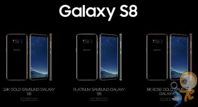 samsung galaxy s8 lüks fiyatları