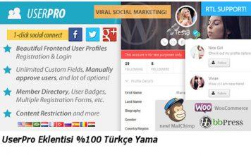 userpro türkçe yama