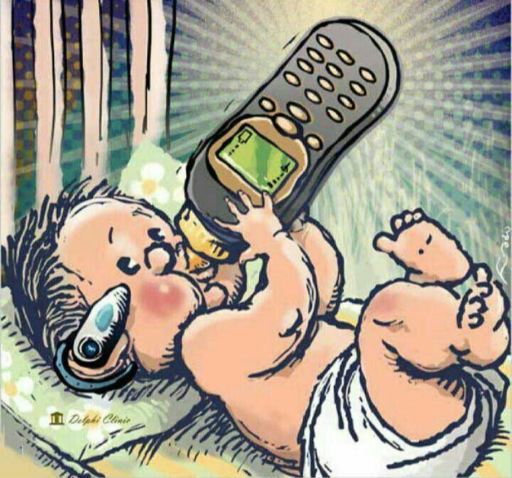 bebekler bile telefonla